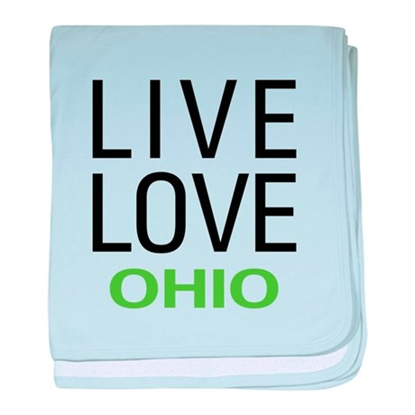 Live Love Ohio baby blanket