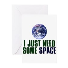 Astronaut Humor Greeting Cards (Pk of 20)