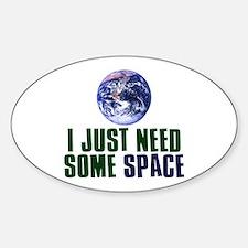 Astronaut Humor Sticker (Oval)