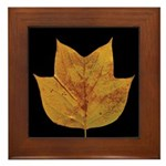 Fall Tulip Leaf Framed Tile