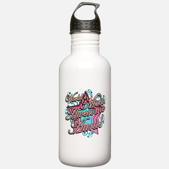 Worlds Most Awesome Aunt Sports Water Bottle