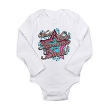 Worlds Most Awesome Aunt Long Sleeve Infant Bodysu