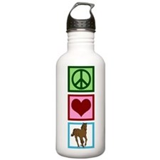 Peace Love Horses Water Bottle