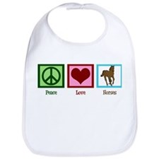 Peace Love Horses Bib