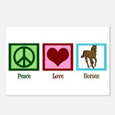 Peace Love Horses Postcards (Package of 8)