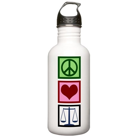 Peace Love Justice Stainless Water Bottle 1.0L