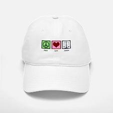 Peace Love Justice Baseball Baseball Cap