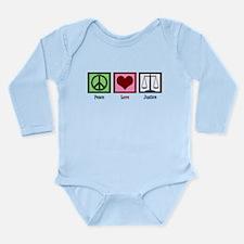 Peace Love Justice Long Sleeve Infant Bodysuit