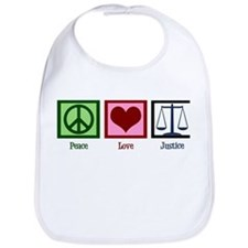 Peace Love Justice Bib