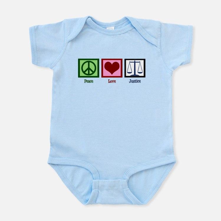 Peace Love Justice Infant Bodysuit