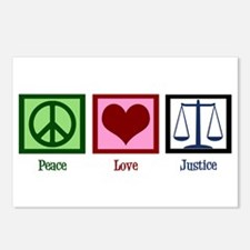 Peace Love Justice Postcards (Package of 8)