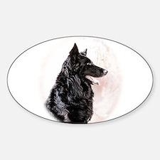 Belgian Shepherd Sticker (Oval)