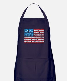 A New Twist on Old Glory Apron (dark)