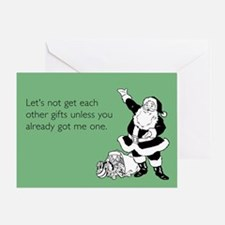 Let's Not Get Gifts Greeting Card