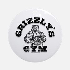 Grizzly's Gym Ornament (Round)