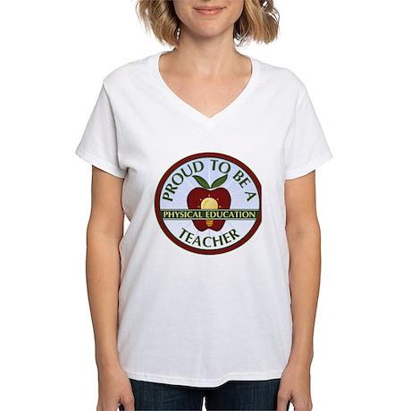 Physical Education Teacher Women's V-Neck T-Shirt