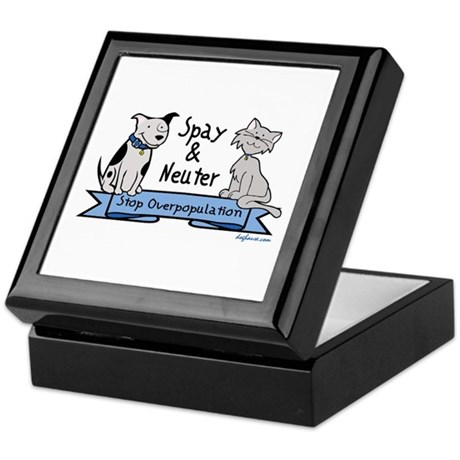 Stop Overpopulation Keepsake Box