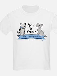 Stop Overpopulation Kids T-Shirt