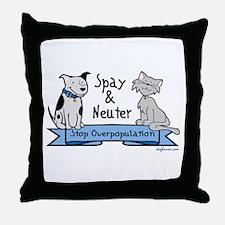 Stop Overpopulation Throw Pillow