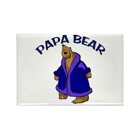 Papa Bear Rectangle Magnet