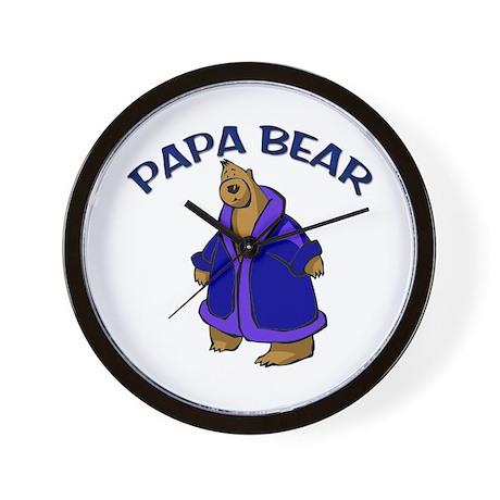 Papa Bear Wall Clock