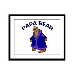 Papa Bear Framed Panel Print