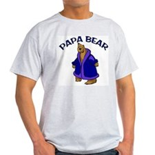 Papa Bear Ash Grey T-Shirt