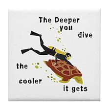 SCUBA Diving Tile Coaster