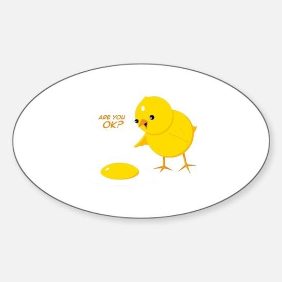 Are you ok? Sticker (Oval)