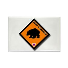 Bear Crossing Rectangle Magnet