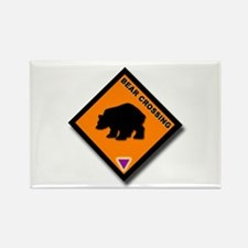 Bear Crossing Rectangle Magnet