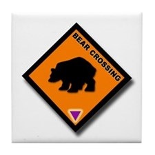 Bear Crossing Tile Coaster