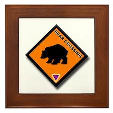Bear Crossing Framed Tile