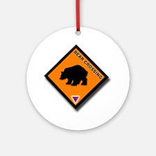 Bear Crossing Ornament (Round)