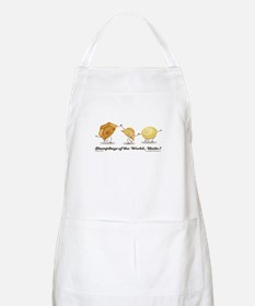 """Dumplings of the World, Unite!"" white apron"