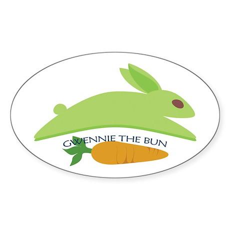 Gwennie The Bun: Carrot Sticker (Oval 10 pk)