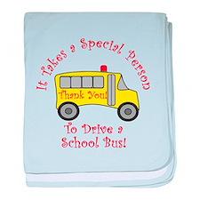 School Bus Driver baby blanket