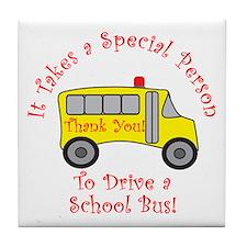School Bus Driver Tile Coaster