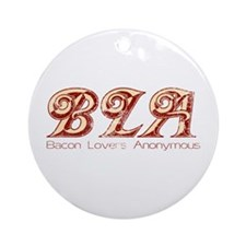 Bacon Lovers Anonymous Ornament (Round)