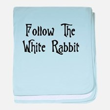Follow The White Rabbit baby blanket