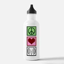 Peace Love Radio Water Bottle