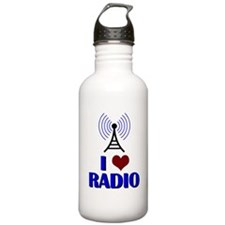 I Love Radio Water Bottle