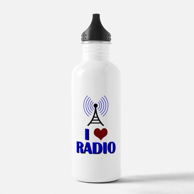 I Love Radio Water Bottle