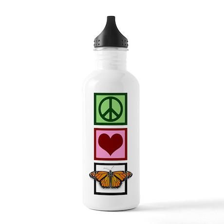 Peace Love Butterflies Stainless Water Bottle 1.0L
