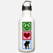 Peace Love Elephants Water Bottle