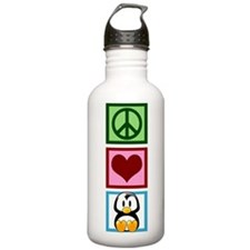 Peace Love Penguins Sports Water Bottle