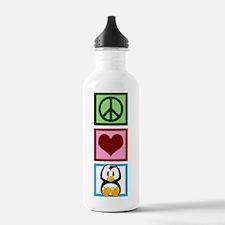 Peace Love Penguins Water Bottle