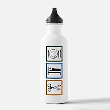 Eat Sleep Cut Water Bottle