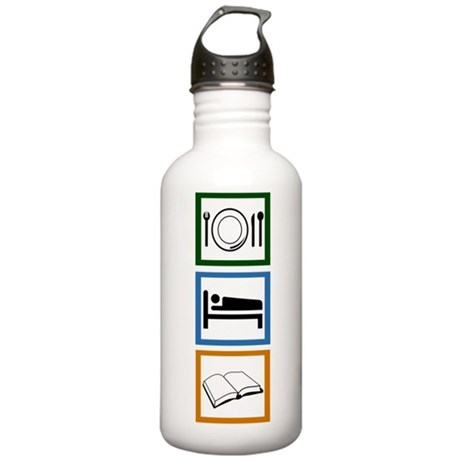 Eat Sleep Read Stainless Water Bottle 1.0L