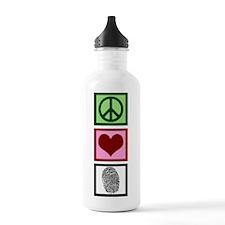 Peace Love Forensics Water Bottle